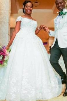 Naturalne talii Na suwak Formalny Jesień Tiul Sukienka ślubne