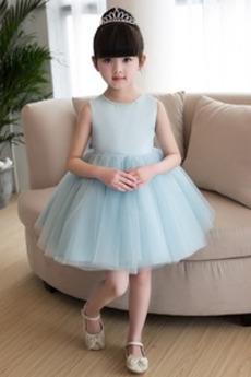 Wiosna Panienki Naturalne talii Bez rękawów Wakacje Dzieci sukienka