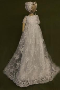 Jesień Krótki rękaw Naturalne talii Formalny Sukienka do chrztu