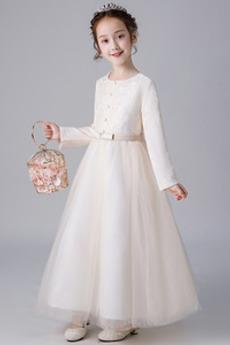 Tiul Średni Kokarda Długi rękaw Naturalne talii Dzieci spódnica