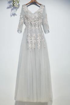Latem Ślub Luksusowe Bez pleców Koronki V serek Sukienka dla Druhen