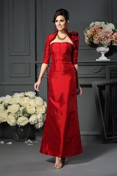 Tafta Bez ramiączek Rozeta akcentowane Naturalne talii Sukienka matki