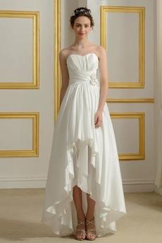 Bez ramiączek Chybienia Spadek Elegancki Plaża Sukienka ślubne