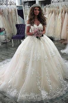Ograniczona rękawy Koronki Naturalne talii Panienki Sukienka ślubne