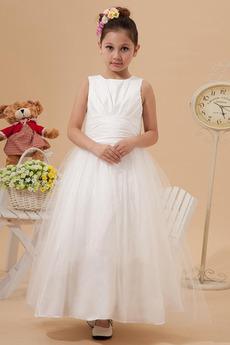 Księżniczka Zamek w górę Bez rękawów Kryształ Organza Dzieci sukienka