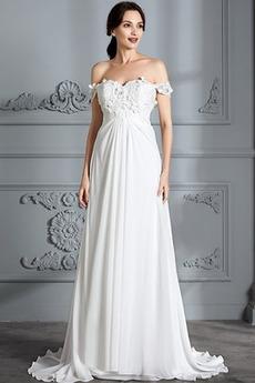 Ograniczona rękawy Latem Harmonijkowe gorset Sukienka ślubne