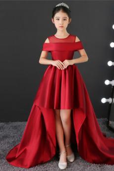 Wysoki Niski Wiosna Ograniczona rękawy Rosy ramię Dzieci sukienka