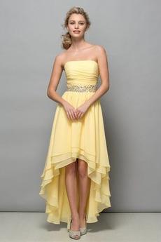 Bez ramiączek Elegancki Asymetryczny Średni Sukienka koktajlowe