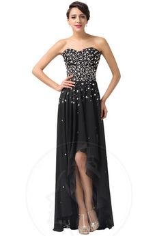 Średni Asymetryczny Sznurowane Naturalne talii Sukienka wieczorowe
