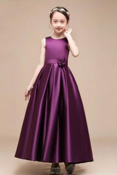 Naturalny talia Na suwak Średni Klejnot Latem Dzieci sukienka