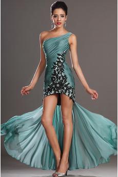 Bez rękawów Na suwak Art Silk Asymetryczny Sukienka koktajlowe