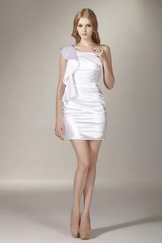Krótki Asymetryczne Rękawy Bez rękawów Połowy pleców Sukienka wieczorowe