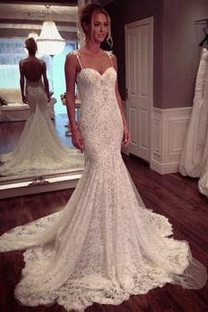 Bez pleców Tiul Ramiączkach Elegancki Drobna Sukienka ślubne