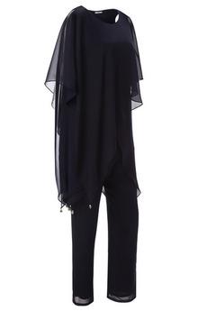 Z spodnie Krótki rękaw Wysokie pokryte Kaskadowe Sukienka matki