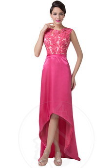 Asymetryczny Koronki Glamour Bez rękawów Sukienka wieczorowe