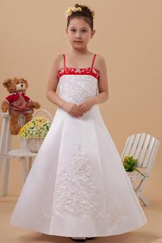 Satyna elastyczna Ramiączkach Linia A Cienkie Dzieci sukienka