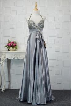 Bez pleców Średni Satyna elastyczna Wiosna Sukienka wieczorowe