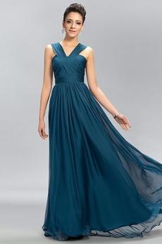 V serek Linia A Elegancki Szyfon Panienki Sukienka dla Druhen