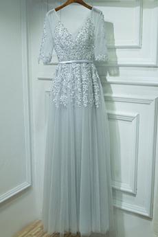 Rękaw do łokcia Koronki Przyjęcie Sznurowane Sukienka dla Druhen