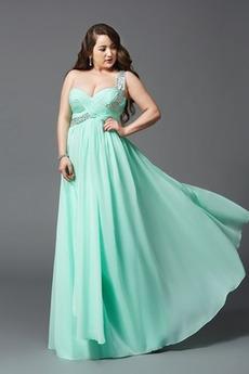 Długość do podłogi Frezowanie Na jedno ramię Sukienka wieczorowe