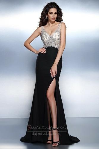 Bez pleców Klejnotami stanik Naturalne talii Sukienka wieczorowe - Strona 1
