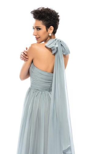 Wzburzyć Bez rękawów Lato Szyfon Naturalne talii Sukienka wieczorowe - Strona 10