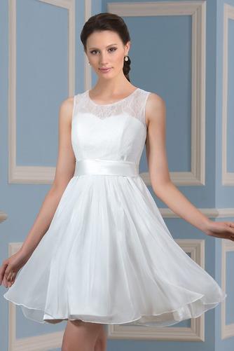 Ogród Linia A Glamour Bez rękawów Sama z powrotem Sukienka ślubne - Strona 1