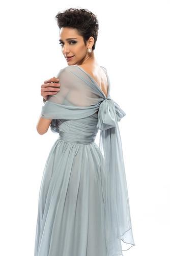 Wzburzyć Bez rękawów Lato Szyfon Naturalne talii Sukienka wieczorowe - Strona 5