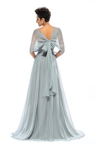Wzburzyć Bez rękawów Lato Szyfon Naturalne talii Sukienka wieczorowe - Strona 2