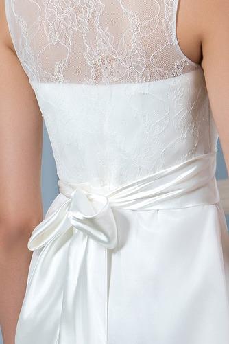 Ogród Linia A Glamour Bez rękawów Sama z powrotem Sukienka ślubne - Strona 5