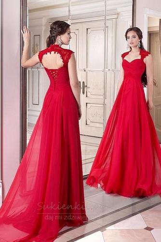 Królowa Ania Średni Naturalne talii Linia A Sukienka wieczorowe - Strona 1