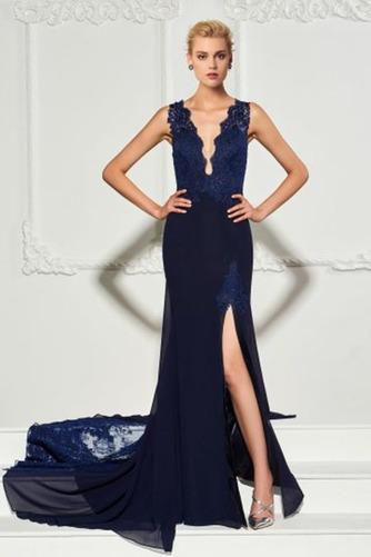 Syrena Naturalne talii Przodu Split Mały Sukienka wieczorowe - Strona 1