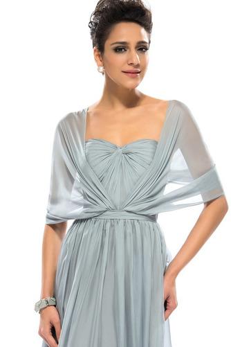 Wzburzyć Bez rękawów Lato Szyfon Naturalne talii Sukienka wieczorowe - Strona 4