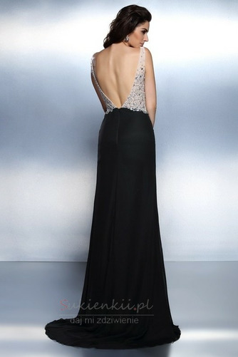 Bez pleców Klejnotami stanik Naturalne talii Sukienka wieczorowe - Strona 2