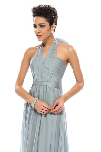 Wzburzyć Bez rękawów Lato Szyfon Naturalne talii Sukienka wieczorowe - Strona 9