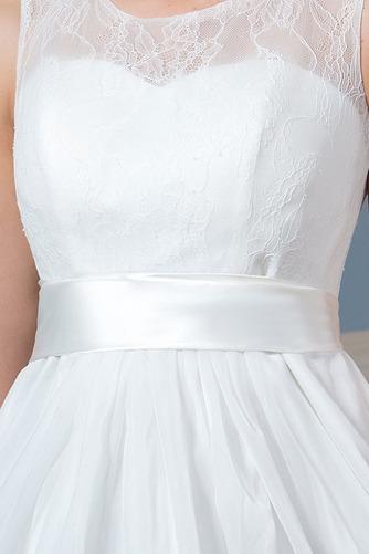 Ogród Linia A Glamour Bez rękawów Sama z powrotem Sukienka ślubne - Strona 6