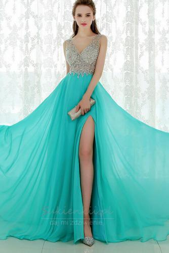 V-dekolt Zima Długi Chybienia Naturalne talii Sukienka wieczorowe - Strona 3