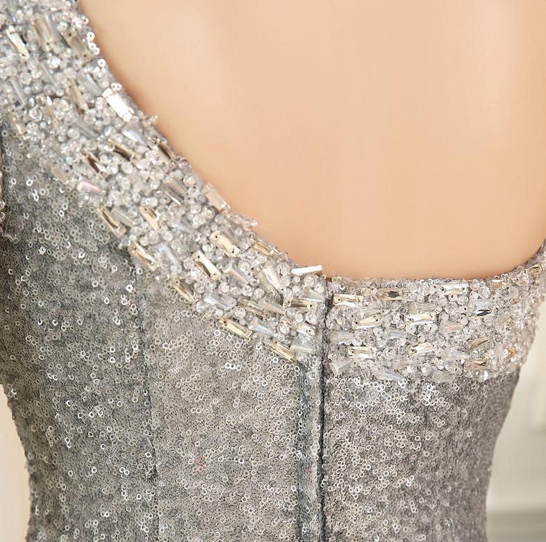 7f69bf958c ... Cekinowe gorset Asymetryczne Rękawy Chybienia Sukienka wieczorowe -  Strona 4