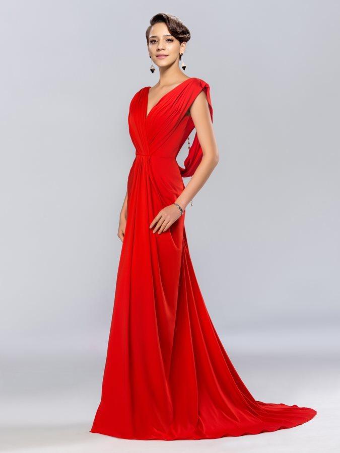 f436f1f26e61d5 Bez pleców Plisowane V serek Harmonijkowe gorset Sukienka wieczorowe - Strona  1 ...
