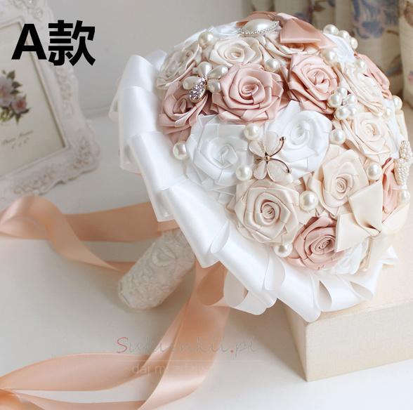 c1bd87ed1e Pearl diament ręcznie panna młoda gospodarstwa kwiaty niestandardowe róże  druhna bukiet - Strona 1 ...