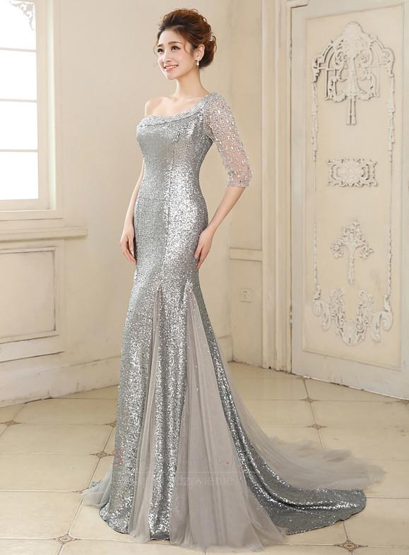 70a947f436 ... 1 Cekinowe gorset Asymetryczne Rękawy Chybienia Sukienka wieczorowe -  Strona 2 ...